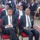 Haiti Prime Ministers Fritz Jean and Evans Paul together