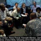 Hillary Clinton, Rene Preval, Kenneth Merten, Jean-Max Bellerive, Cheryl Mills