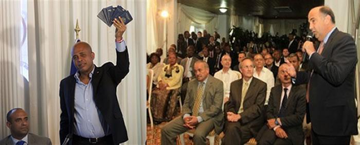 US Ambassador Kenneth Merten declaring Michel Martelly a Haitian citizen