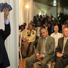 US Ambassador Kenneth Merten declaring Michel Martelly a Haitian citizen