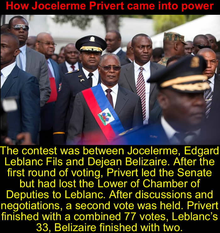 How Jocelerme Privert came into power