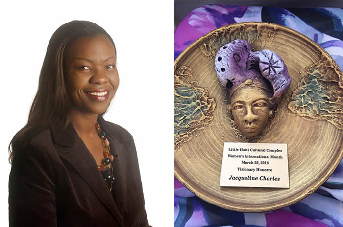 Jacqueline Charles honored at International Women's Brunch, Little Haiti