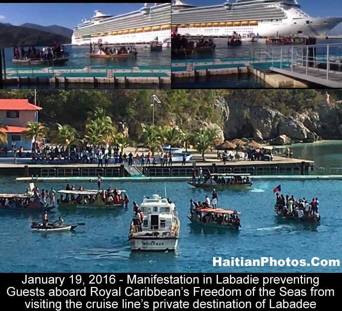 Manifestation preventing Royal Caribbean from going to Labadee