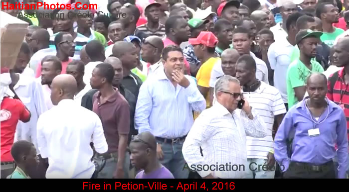 Fire in Petion-Ville, Haiti