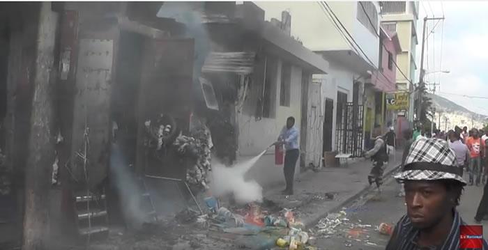 Fire in Petion-Ville, Haiti