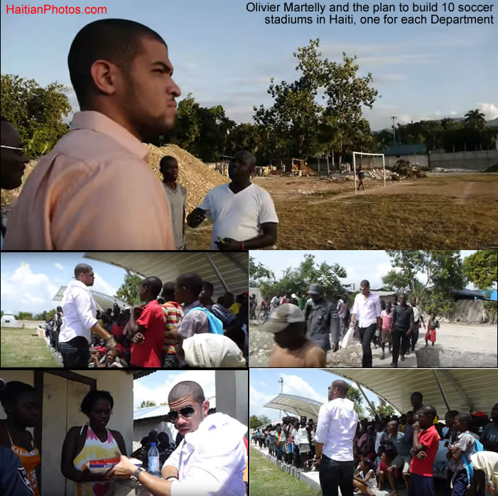 Olivier Martelly and the money to build 10 soccer stadiums in Haiti