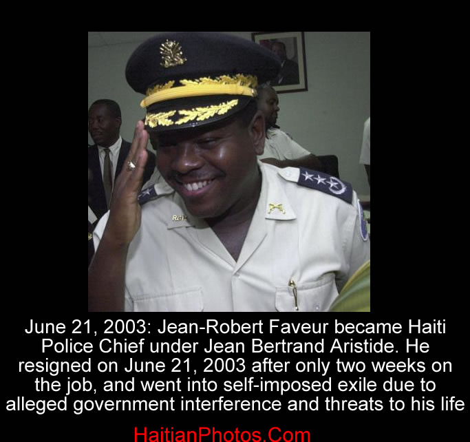 Haiti Police Chief Jean-Robert Faveur