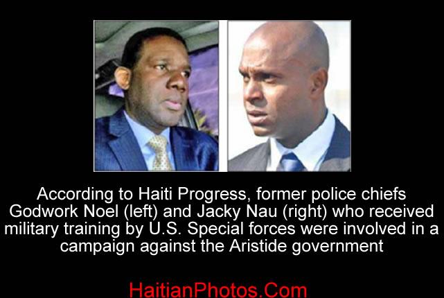 Former police chiefs Godwork Noel and Jacky Nau