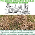 Subsidized U.S. peanuts as humanitarian aid to Haiti