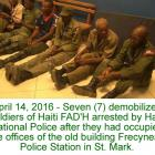Seven demobilized soldiers of Haiti FAD'H arrested in St. Mark