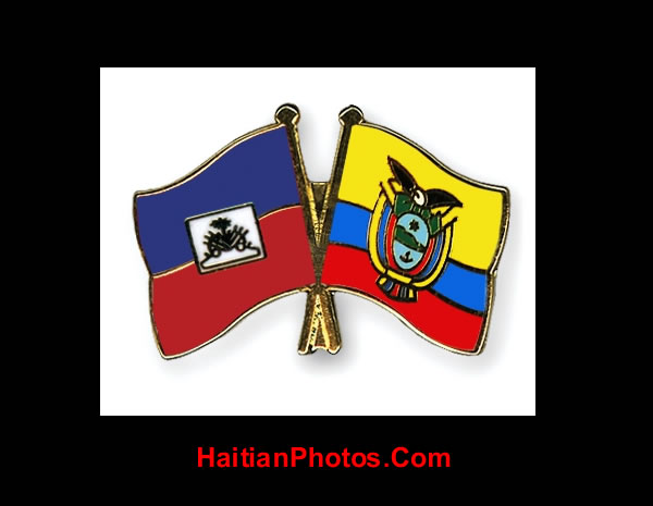 Ecuador and Haiti flags