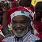 Haitian President Rene Preval Celebrating Christmas