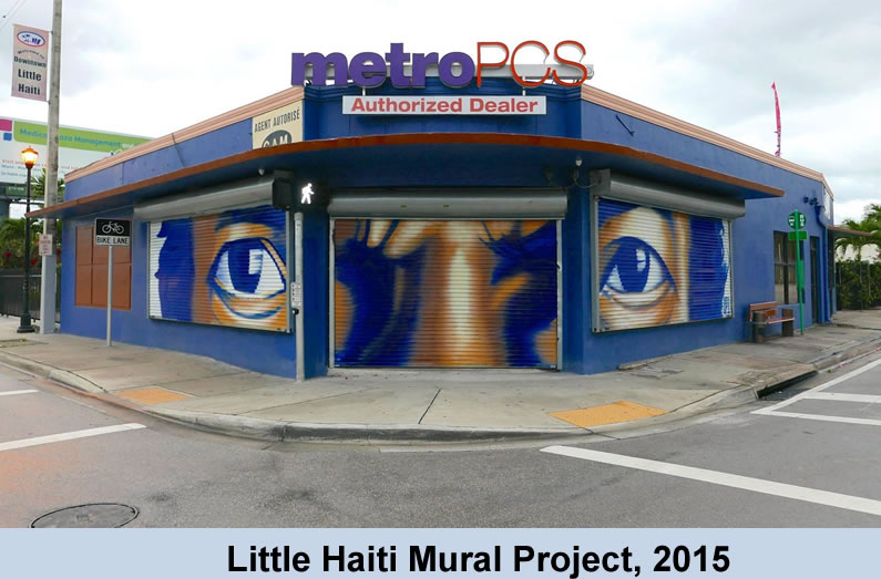 Little Haiti Art Basel, 2015 - NE 2nd Ave and 54th Street Mural