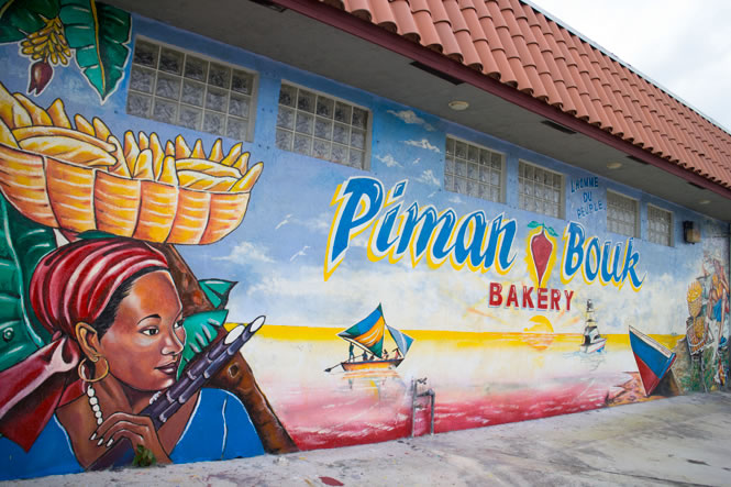 Piman Bouk bakery Mural in Little Haiti