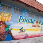 Piman Bouk bakery Mural in Little Haiti