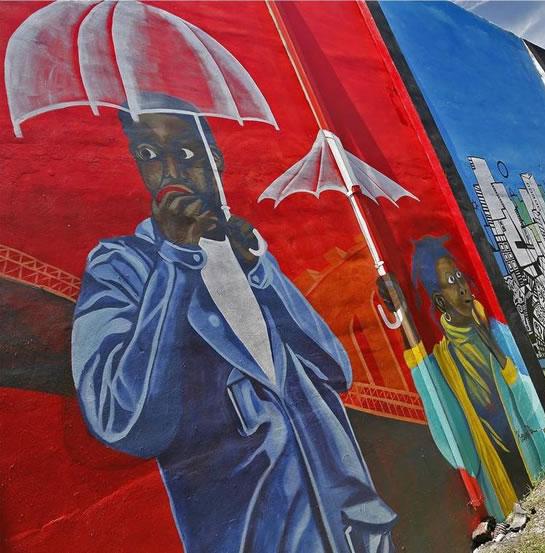 mural at Little Haiti Soccer Park