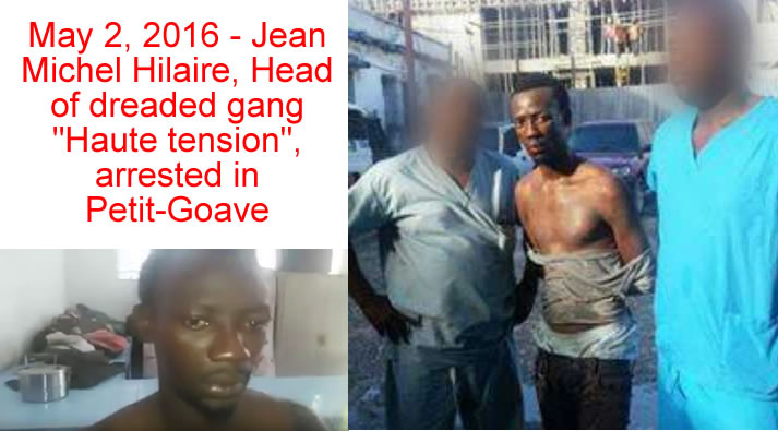 Jean Michel Hilaire, Head of gang