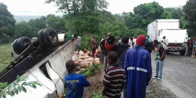 Major road accident at Coupe a Limbe, North