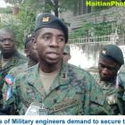 Haiti Corps of Military engineers demand to secure the country