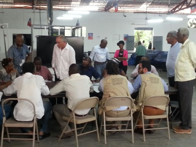 Verification commission at the Tabulation Center