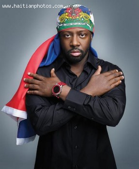 Haitian Flag And Wyclef Jean