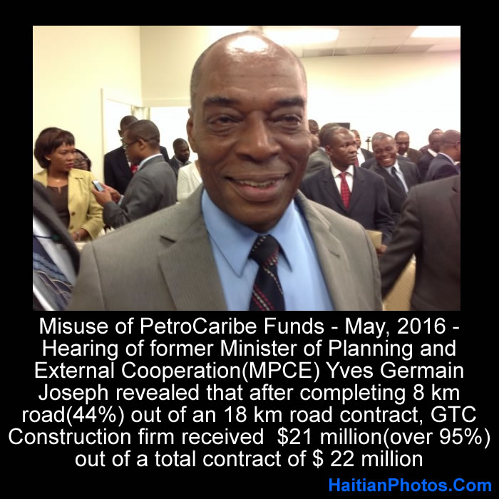 Misuse of PetroCaribe Funds, Yves Germain Joseph revealed