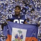 NFL Colts Receiver Pierre Garcon And Haitian Flag