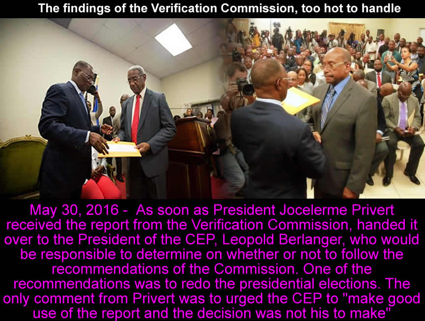 The findings of the Verification Commission, too hot to handle