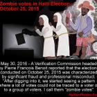 Zombie votes Haiti Election