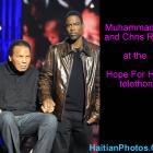 Muhammad Ali and Chris Rock at Hope For Haiti telethon