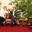 President Jocelerme Privert President Danilo Medina