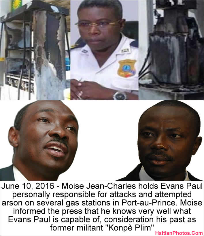 Moise Jean-Charles accused Evans Paul in gas station fire