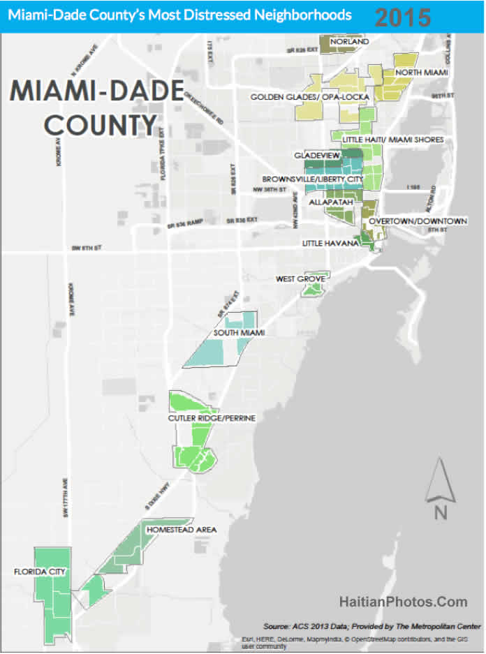 Little Haiti among most distressed neighborhoods in Miami in 2015
