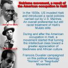 Noirisme movement, a result of the American occupation in Haiti