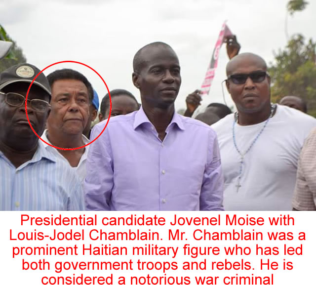 Candidate Jovenel Moise with Louis-Jodel Chamblain
