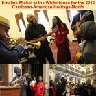 Emeline Michel at the White House for Caribbean-American Heritage Month