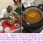 Haitian Chef serving Mais moulin, soup joumou at White House