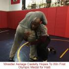 Wrestler Asnage Castelly Hopes To Win Olympic Medal for Haiti