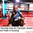 Ruben Nicolas, Olympic dream to represent Haiti in boxing