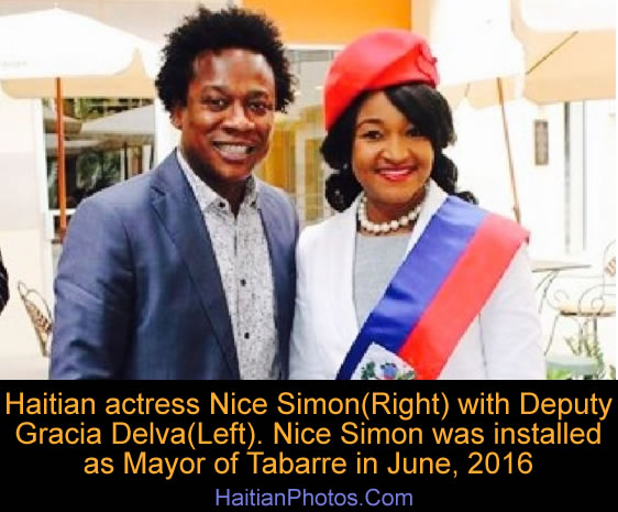 Mayor of Tabarre Nice Simon with Deputy Gracia Delva