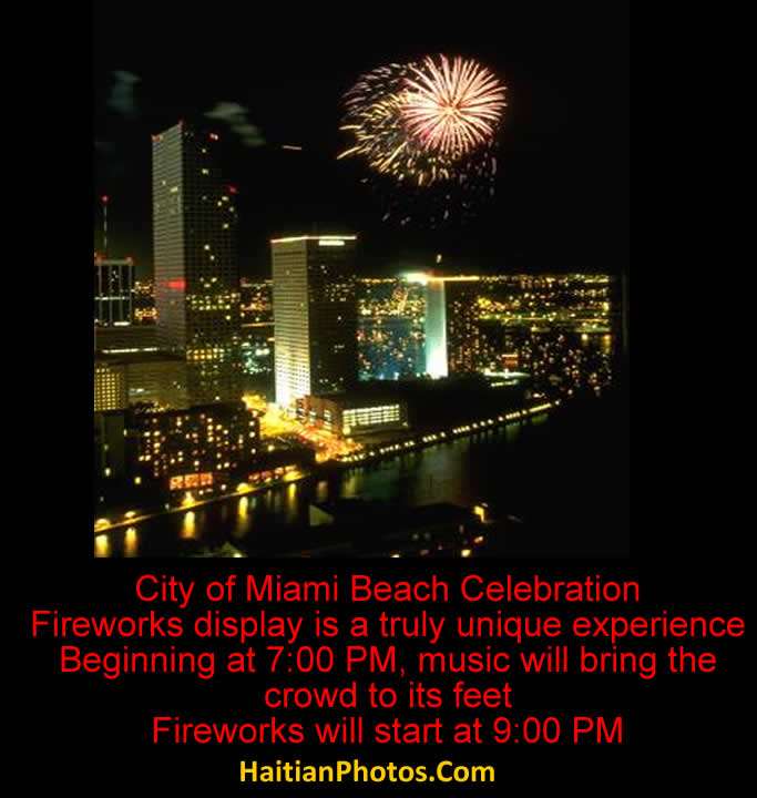 City of Miami Beach, Fireworks show