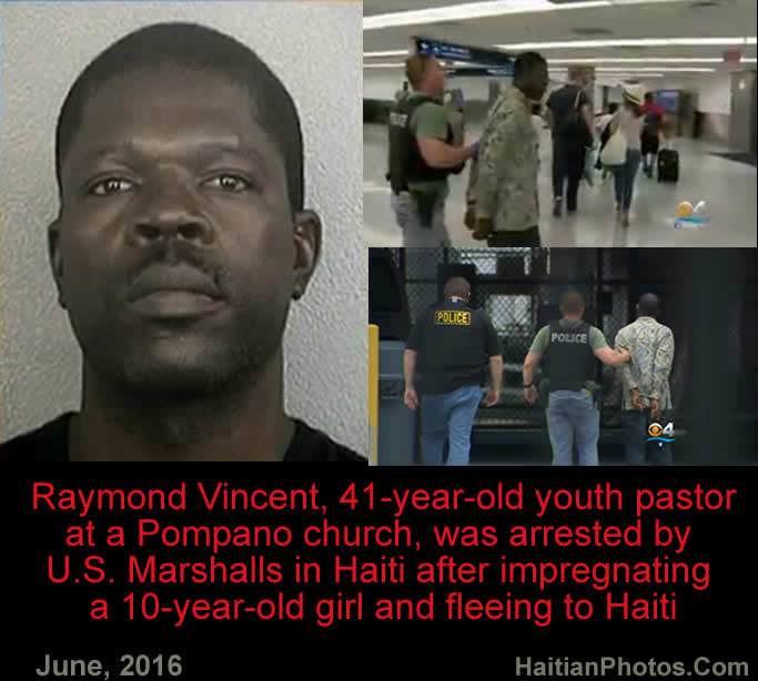 Haitian Pastor arrested after impregnating a 10-year-old