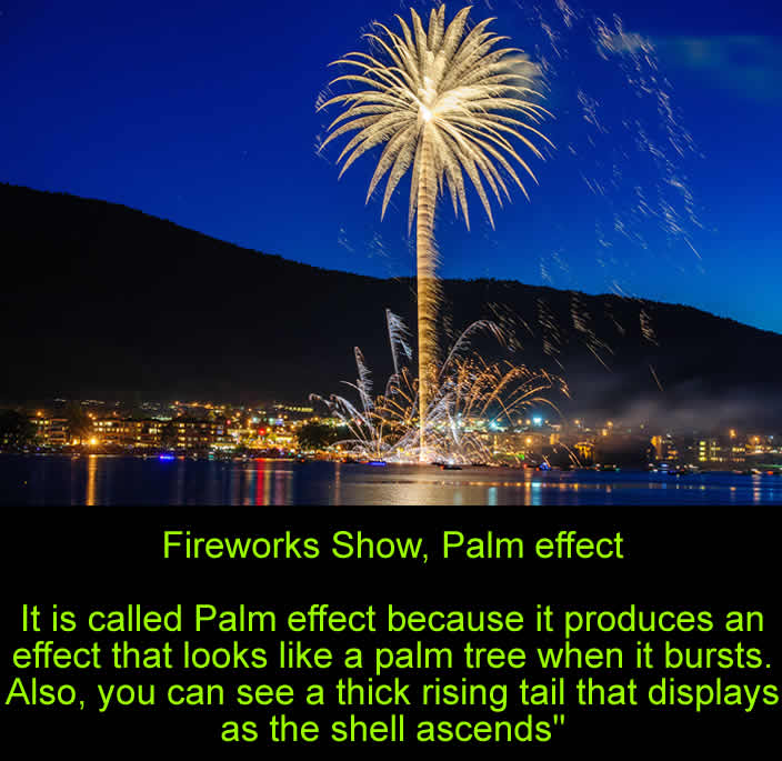 Fireworks Show, Palm effect