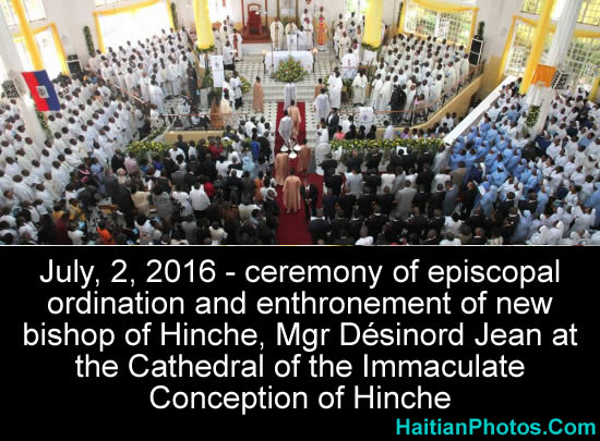 Ceremony of ordination and enthronement, Mgr Desinord Jean Hinche