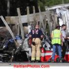 Bus carrying Haitians collided  with tractor-trailer, killing five