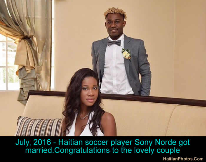 Haitian soccer player Sony Norde got married