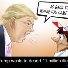 Donald Trump wants to deport 11 million illegal aliens
