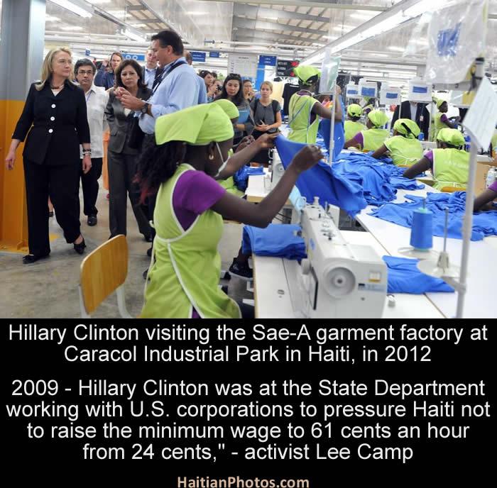 Hillary Clinton Stopped Haiti from Increasing Minimum Wage