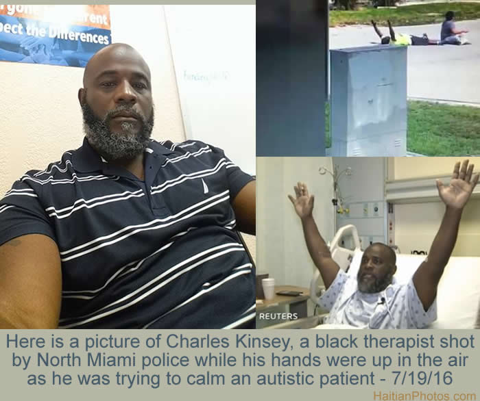 Charles Kinsey, Black therapist shot by North Miami Police