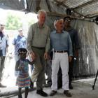 Bill Clinton traveling in Haiti
